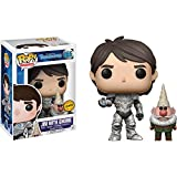 Funko Jim w/ Gnome (Chase Edition) POP! TV x Trollhunters Vinyl Figure + 1 American Cartoon Themed Trading Card Bundle [#466]