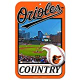 11X17 Country Plastic Street Sign MLB Baltimore Orioles
