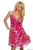 Knielanges Sommerkleid in verschiedenen Farben (Pink)