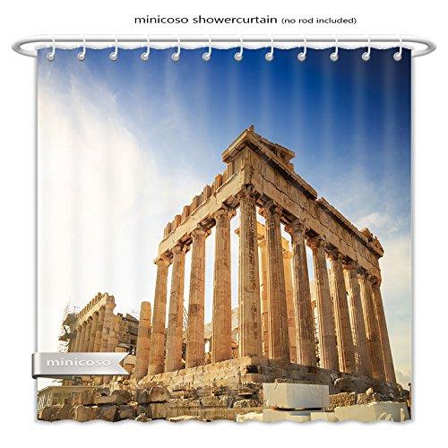 Minicoso ShowerCurtain Acropolis Hill, Parthenon, Athens, Greece. Odeon Herodes Atticus Polyester Fabric Bathroom Shower - Macys Athens