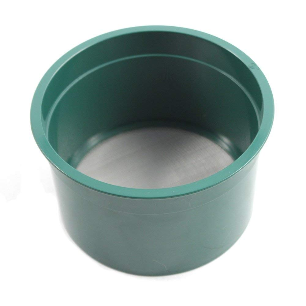 ASR Outdoor Gold Rush Sifting Classifier Sieve 6 Inch Prospect Pan 100 Holes per Sq Inch by ASR Outdoor