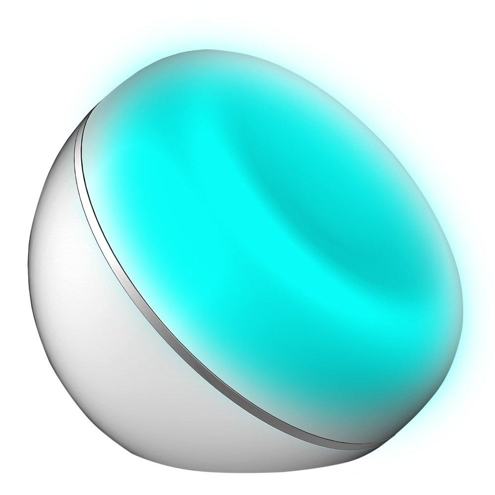 Veilleuse intelligente, Alexa Contrôle vocal + App Lumière de Nuit Intelligente Sans Fil LED Lampe Veilleuse Intelligente Alimenté par USB Viceirye_FR AUGIENBviceiryefr274