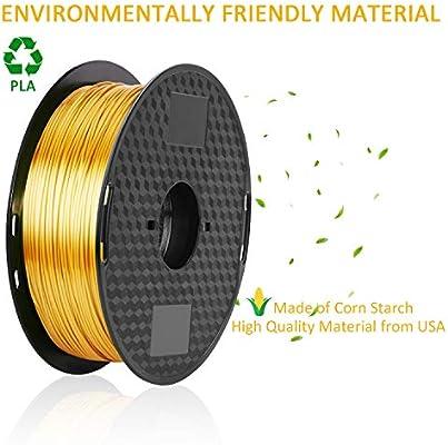 Filamento PLA de seda de 1,75 mm, filamento de impresora 3D ...
