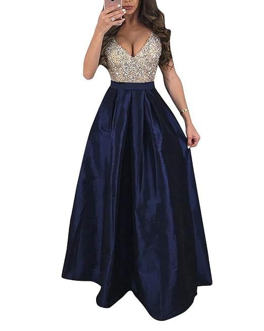 6137cc5ceeeb PengGengA Mujer Vestidos De Fiesta Largos De Noche Elegantes Vestido ...
