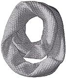Phenix Cashmere Women's Cashmere Knit Popcorn Stitch Infinity Scarf, Grey, One Size