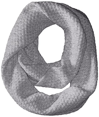 Phenix Cashmere Women's Cashmere Knit Popcorn Stitch Infinity Scarf, Grey, One Size by Phenix Cashmere