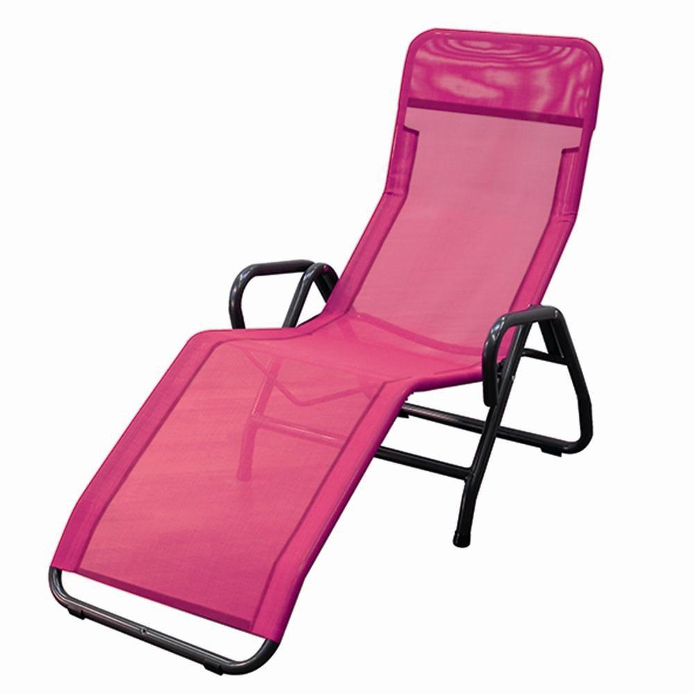 MFG 2603319 Bäderliege Pool 3, Gestell anthrazit, Bezug pink
