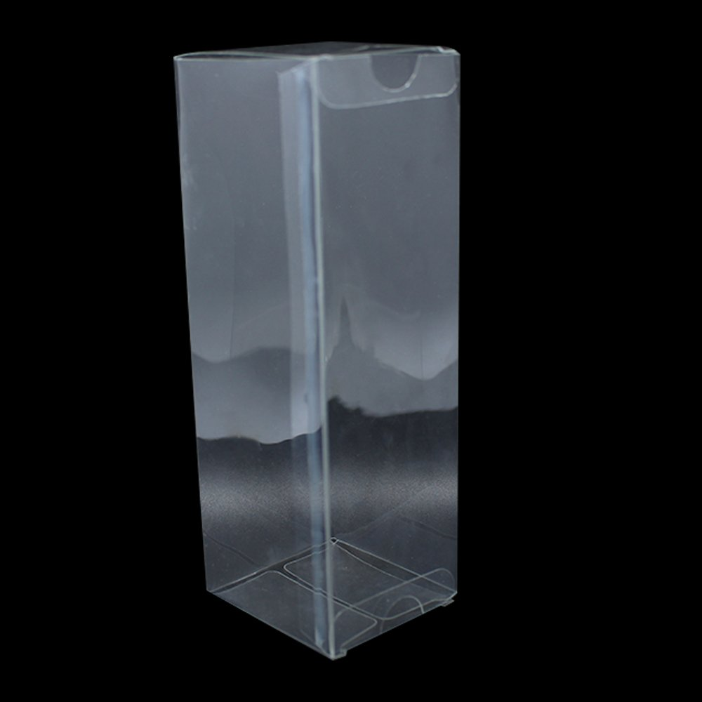 150 Pieces 2.16''x2.36''x6.69'' (5.5617cm) Plastic Cream Bottle Packing PVC Boxes Clear Poly PVC Box For Small Gift Toy Crafts DIY Decorative Package