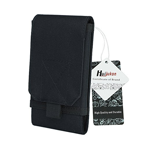 Holster Duty Plus - Huijukon MOLLE Tactical Smartphone Pouch Military 1000D Nylon Hook Loop Belt Phone Holster Cover Case for 4.7