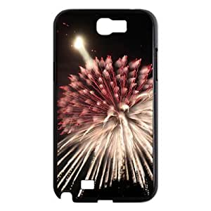 Custom Cover Case with Hard Shell Protection for Samsung Galaxy Note 2 N7100 case with Fireworks lxa#485835 by mcsharks
