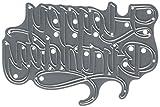 Elizabeth Craft Designs 1054 Thin Metal Die Happy Birthday, 4.25''X2.83''