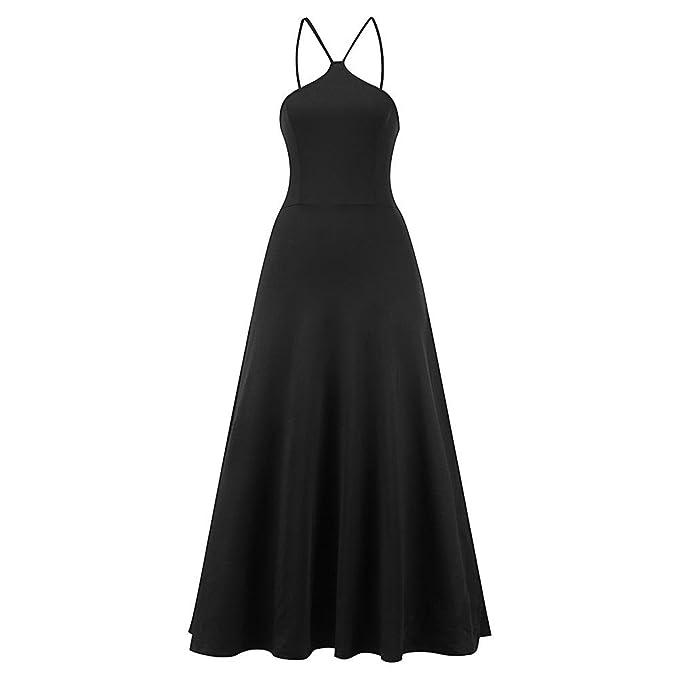 iBaste 2018 Nuevo Mujer Elegante Negro Vintage Vestidos Largos Backless Vestido de la Honda Traseras Lace