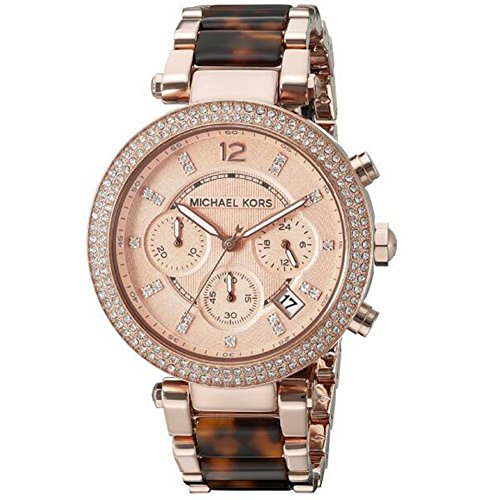 MK5538 Michael Women's Parker Brown Crystal-Accented Watch