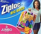 ziploc big bags - Ziploc Big Bag Double Zipper Jumbo Big Bags, 3 Count