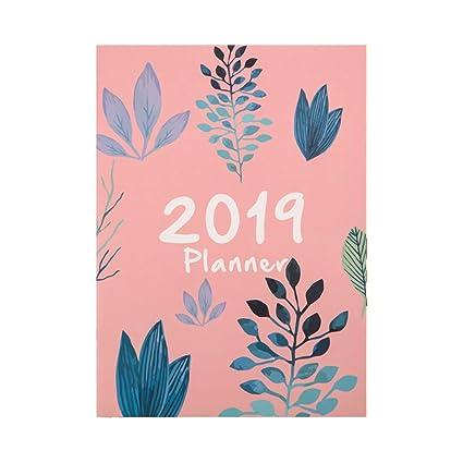 EcLife 2019 Flor A4 Agendas Calendario Cuaderno Mensual ...