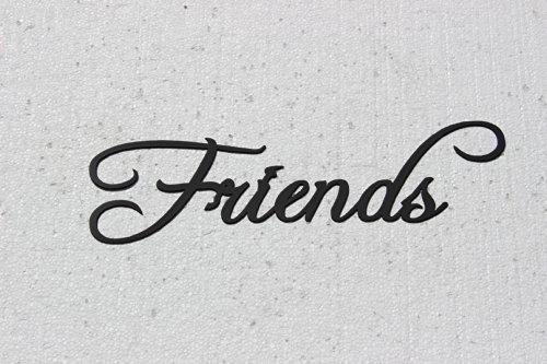 Amazon.com: Friends Word Home Decor Metal Wall Art: Home & Kitchen