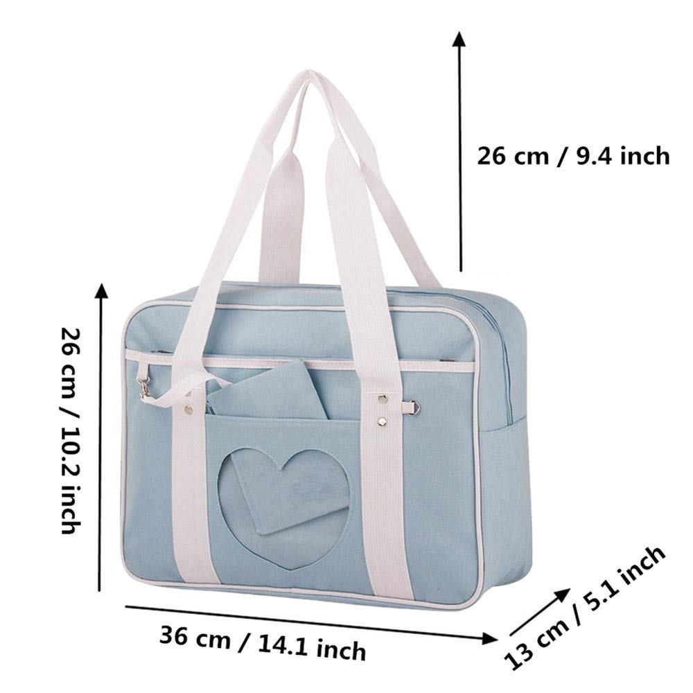 bb80258f78f9 Ita Bag Heart Japanese Bag High School JK Bag Girls Duffle Purse Anime School  Uniform Shoulder Bags Lolita DIY