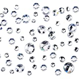 big clear gems - Pangda 5800 Pieces Clear Wedding Crystals 4 Sizes Table Confetti Decoration Acrylic Diamonds for Birthday Baby Shower Party Tables