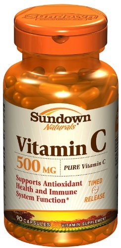 Sundown Naturals Vitamin C 500 mg Timed Release Capsules 90 CP - Buy Packs and SAVE (Pack of 2)