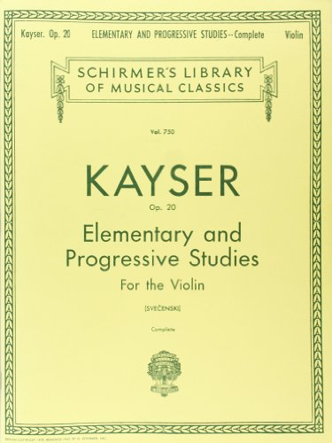 36 Elementary and Progressive Studies, Op. 20 (Complete): Violin Method (Schirmer