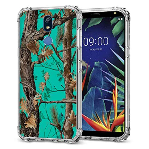 for LG K40 Camo Case, LG K12 Plus Camo Case, BAYKE Slim Flexible TPU Bumper Cushion Protective Cover with Reinforced Corners for LG K40, LG K12+, LG K12 Plus, LG X4 (2019)