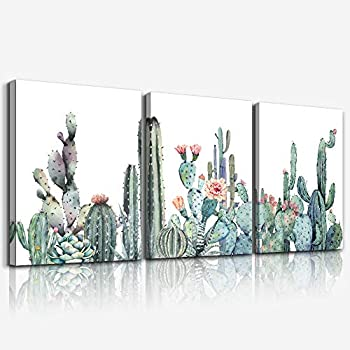 Canvas Wall Art for bedroom living room Canvas Prints Artwork bathroom Wall Decor Green plants Succulent cactus flower painting 12