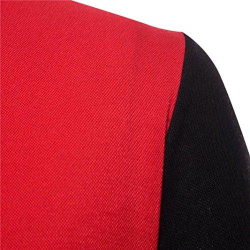Realdo Mens Multi Color Polor Shirts, Casual Fashion Slim Skinny Button Short Sleeve Pullover Top T-Shirt(Black,XX-Large) by Realdo (Image #2)