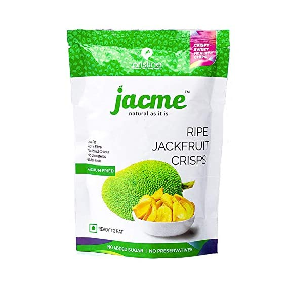 Jacme Vacuum Fried Jackfruit Chips | Pack of 1 | Immunity Booster Pack | Sweet, Healthy and Natural Snacks