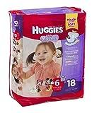 Huggies Little Movers Diapers Jumbo, Size 6, Over 35 lbs, 40799 (Case of 72)