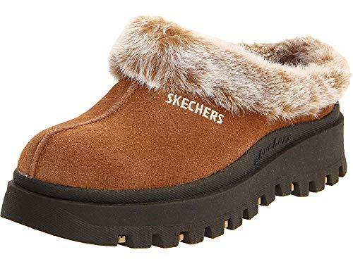 Skechers Women's Fortress Clog Slipper,Chestnut,10 M US