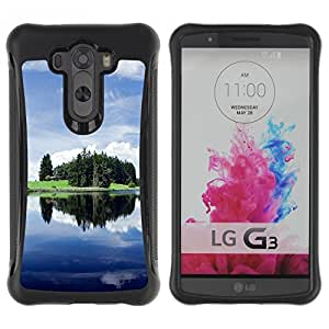 Suave TPU GEL Carcasa Funda Silicona Blando Estuche Caso de protección (para) LG G3 / CECELL Phone case / / Nature Beautiful Forrest Green 125 /