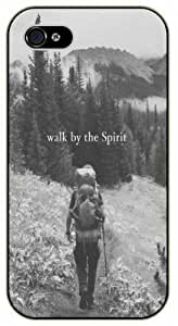 Walk by the spirit - Girl in forest - Bible verse For Iphone 5/5S Case Cover black plastic case / Christian Verses