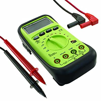 TPI 153 Auto-Ranging, Average-Sensing Digital Multimeter with Protective Boot, 750VAC, 1000VDC, 10 Amp, 40 Megaohms