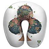 Ministoeb Creative U Shaped Neck Pillow Poker Ace Clover Art Design Comfortable Soft Neck Support Pattern Pillow For Rest,Travel,Car,Airplane,Bed,Sofa