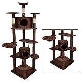 BestPet 2014 Cat Tree Condo Furniture Scratch Post Pet House, Brown, 80-Inch