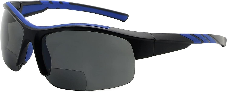 Rapid rise Eyekepper TR90 Sports Polycarbonate Rimle Polarized Bifocal Half Quantity limited