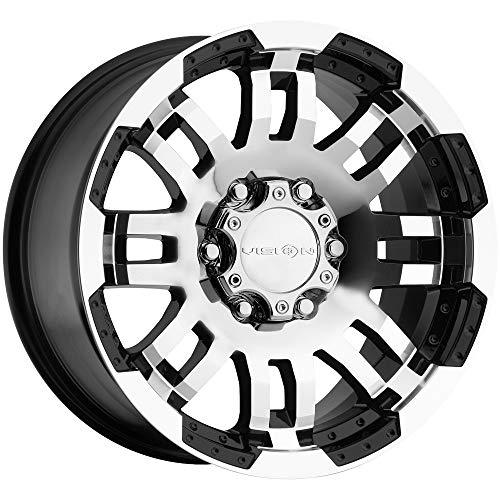Used, Vision Warrior 375 Gloss Black Machined Face Wheel for sale  Delivered anywhere in USA