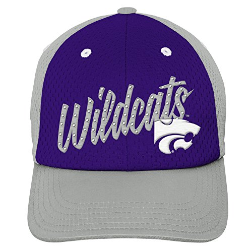 Gen 2 K N8 474CW 96-1SZ-96-Youth Girls OS NCAA Kansas State Wildcats Youth Girls Mesh Slouch Hat, Regal Purple, Girls One Size, -