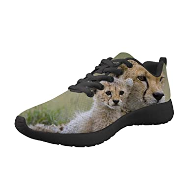 18822a8f9a9c Horeset Women Men Fashion Cute Animal Print Running Shoes Light Weight Breathable  Athletic Tennis Sneakers US