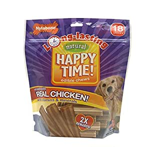 Nylabone Happy Time 18 Count Small Chicken Flavored Dog Treat Bones