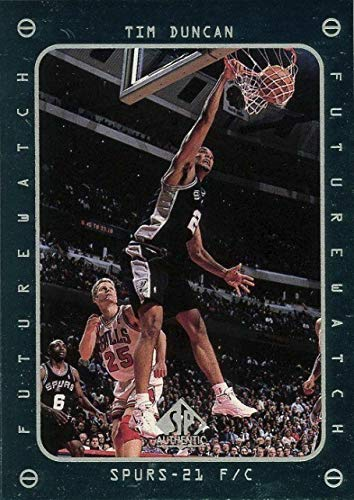 1997-98 Upper Deck SP Authentic - Tim Duncan - San Antonio Spurs NBA Basketball Rookie Card - RC Card #165