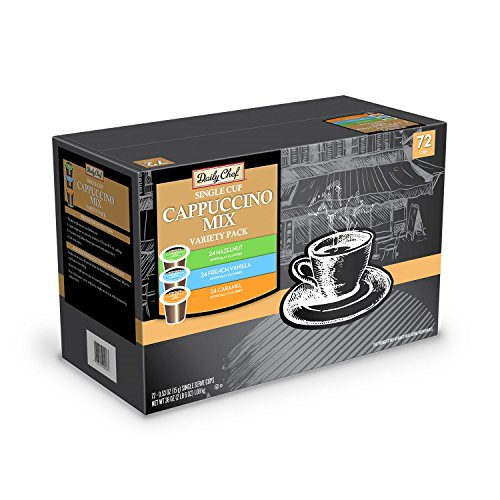 Daily Chef Cappuccino Mix Variety Pack (72 K-Cups) (Keurig Vue Cups Cappuccino compare prices)