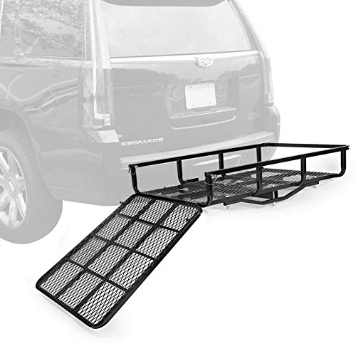 Mobility Carrier Wheelchair Electric Scooter Rack Hitch Disability Medical Ramp 500Lbs Capacity ()
