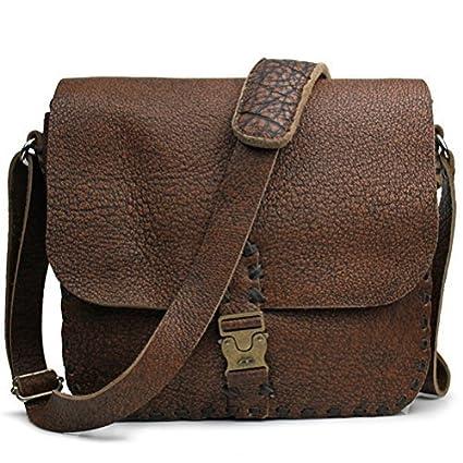 Amazon.com  KUYOMENS Men s Cowhide Leather Flapover Tote Shoulder ... f5f81e117c5d8