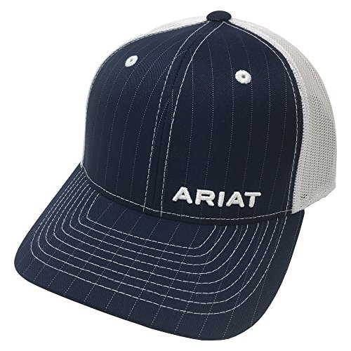 (ARIAT Kid's Youth Offset Pinstripe Cap, Navy, OS)