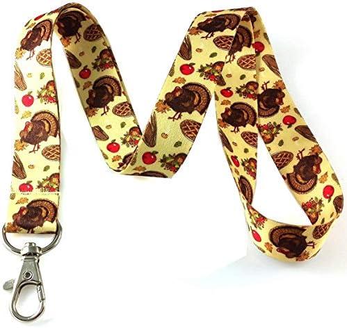 Thanksgiving Schlüsselband mit Schlüsselanhänger, ID Halter