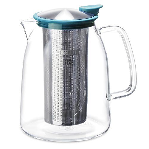 FORLIFE Mist Iced Tea Jug with Basket Infuser, 68-Ounce, Turquoise