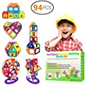 Desire Deluxe Magnetic Blocks Building Tiles Stem Toys Set 94pc Children Creativity Educational 5 Year Old Boy Gifts For Kids Magnet Construction Toy For Girls Age 3 4 6 7 Unique Present