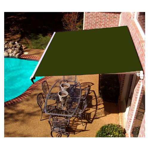 Awntech Beauty-Mark Maui LX, 12'  Left Motorized Retractable Awning, Olive ()