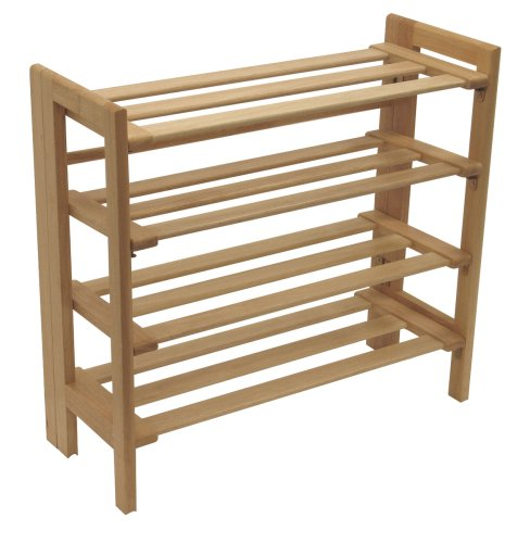 Winsome Wood Foldable 4-Tier Shoe Rack, Natural by Winsome Wood (Image #3)